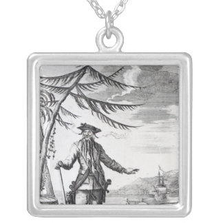 Captain Teach, commonly called Blackbeard Silver Plated Necklace