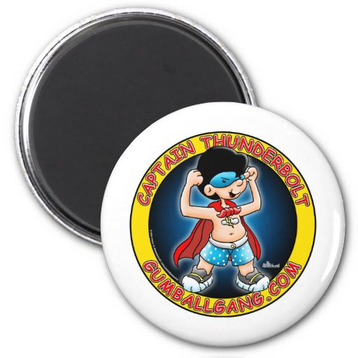 Captain Thunderbolt insignia Refrigerator Magnets