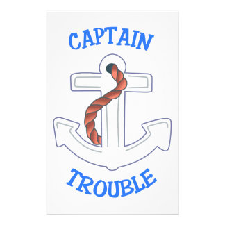 Captain Trouble Personalised Stationery