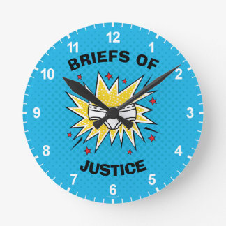 Captain Underpants | Briefs of Justice Round Clock