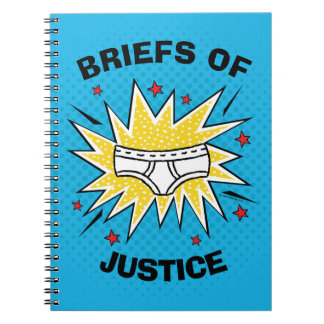 Captain Underpants | Briefs of Justice Spiral Notebook