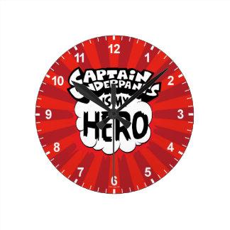Captain Underpants | My Hero Round Clock