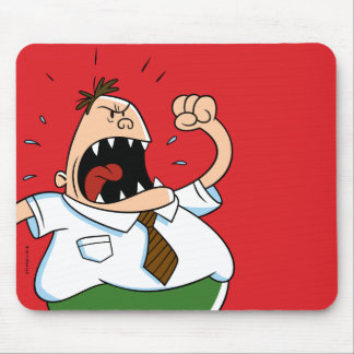 Captain Underpants | Principal Krupp Yelling Mouse Mat