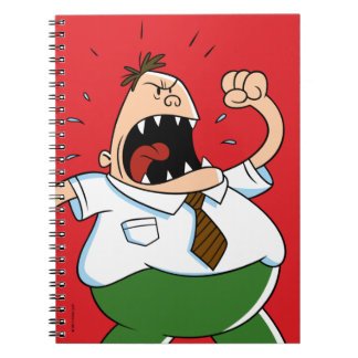Captain Underpants | Principal Krupp Yelling Spiral Notebook