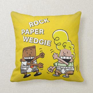 Captain Underpants | Rock Paper Wedgie Cushion