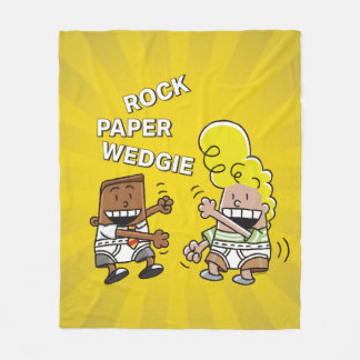 Captain Underpants | Rock Paper Wedgie Fleece Blanket