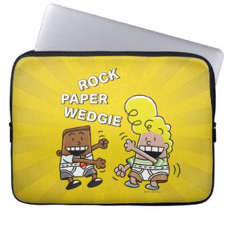 Captain Underpants | Rock Paper Wedgie Laptop Sleeve