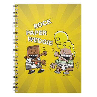 Captain Underpants | Rock Paper Wedgie Spiral Notebook