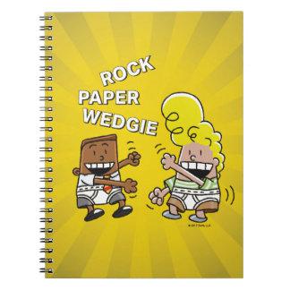 Captain Underpants | Rock Paper Wedgie Spiral Notebook