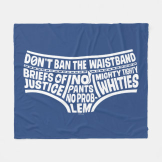 Captain Underpants | Typography Tighty Whities Fleece Blanket