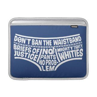 Captain Underpants   Typography Tighty Whities MacBook Sleeve