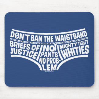 Captain Underpants | Typography Tighty Whities Mouse Mat