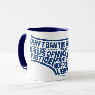 Captain Underpants   Typography Tighty Whities Mug