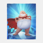 Captain Underpants | Waistband Warrior On Roof Fleece Blanket