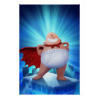 Captain Underpants | Waistband Warrior On Roof Poster