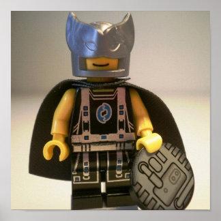Captain Vortex Black Silver Costume Cape Print