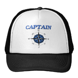 Captain with Blue Compass Rose Mesh Hats