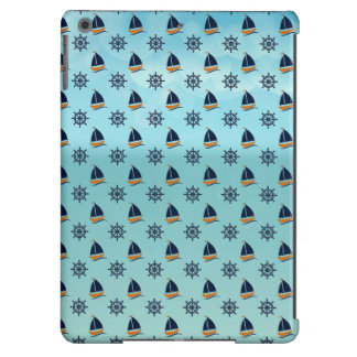 Captain Yacht Boat Sailing Marine Nautical Pattern Cover For iPad Air