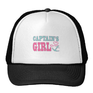 Captain's Girl Anchor and Heart Cap