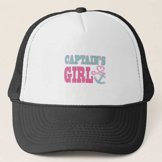 Captain's Girl Anchor and Heart Trucker Hat