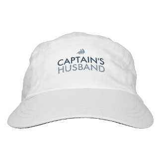 Captains Husband Blue and White Customized Hat