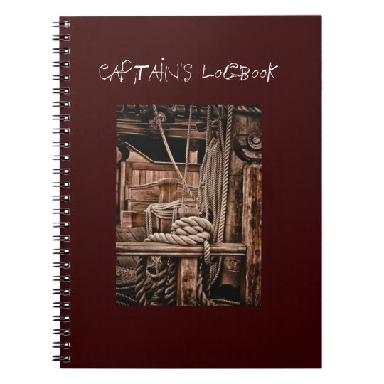 Captain's logbook spiral notebook