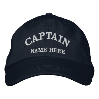 Captains Name Sailor Hat Baseball Cap