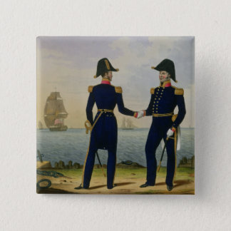 Captains, plate 5 from 'Costume of the Royal Navy 15 Cm Square Badge