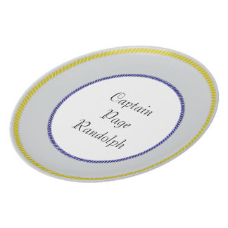 """Captain's-Plates (c)-TEMPLATE- Gold_Navy & Silver Party Plates"