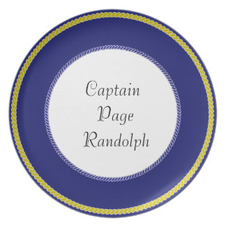 """Captain's-Plates (c)-TEMPLATE- Gold_Navy & White Dinner Plates"