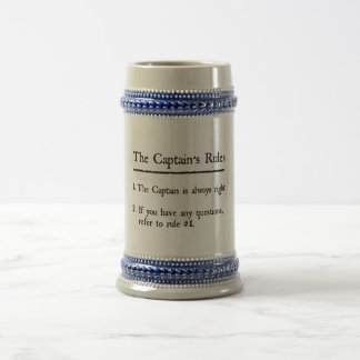 Captain's Rules Beer Stein