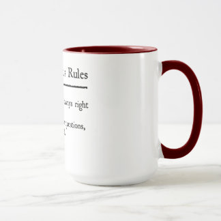 Captain's Rules Mug