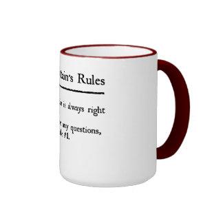 Captain's Rules Ringer Mug