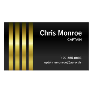 Captain's Stripes Pack Of Standard Business Cards