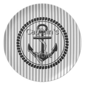 Captain's-Table-Stripes-Anchor-Silver-Black(c) II Plate