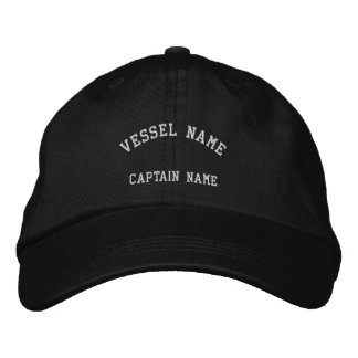 Captains Vessel Embroidered Cap Black