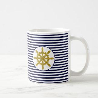 Captain's Wheel Basic White Mug