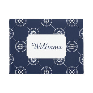 Captain's Wheel Pattern | Add Your Name Doormat