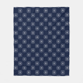 Captain'S Wheel Pattern Fleece Blanket