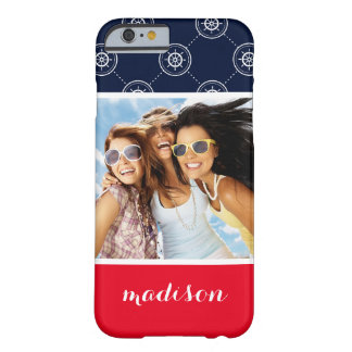 Captain'S Wheel Pattern | Your Photo & Name Barely There iPhone 6 Case