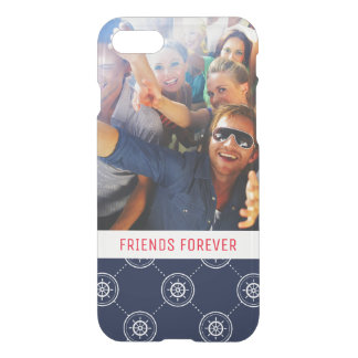 Captain'S Wheel Pattern | Your Photo & Text iPhone 8/7 Case