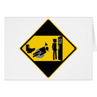 Captian Ridiculous Road Sign Greeting Card