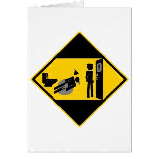 Captian Ridiculous Road Sign Greeting Card