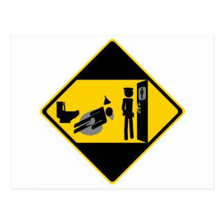 Captian Ridiculous Road Sign Postcard