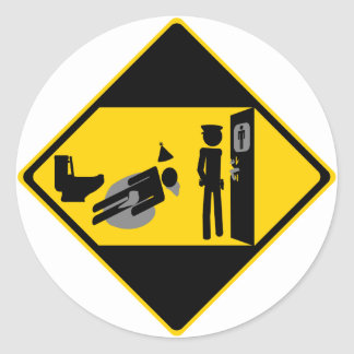 Captian Ridiculous Road Sign Round Stickers