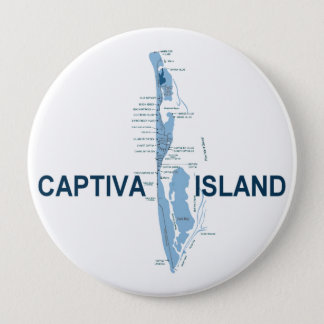 Captiva Island. 10 Cm Round Badge