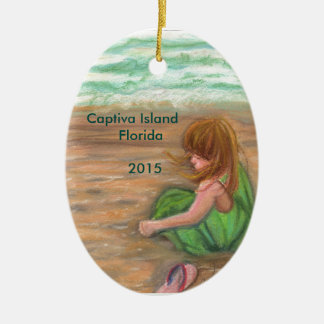 Captiva Island Florida Art Christmas Ornament