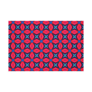 captivating kaleidoscope decorative blue and red canvas print