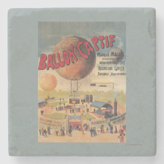 Captive Balloon Rides at a Exposition Poster Stone Beverage Coaster