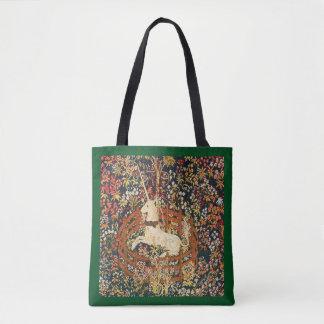Captive Unicorn medieval tapestry Tote Bag